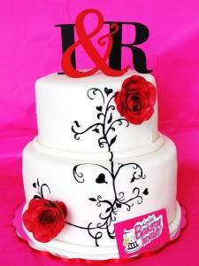TLBH boda letras y rosas